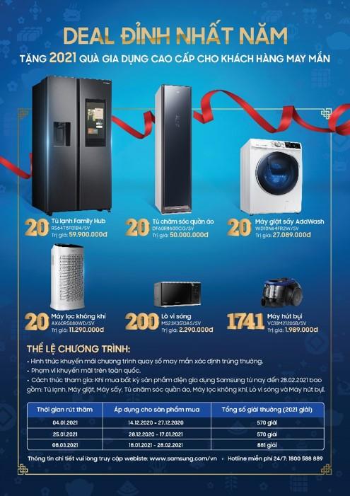 Trao tặng hàng ngàn phần quà, Samsung đồng hành cùng khách hàng tưng bừng đón Tết Tân Sửu - Ảnh 2.