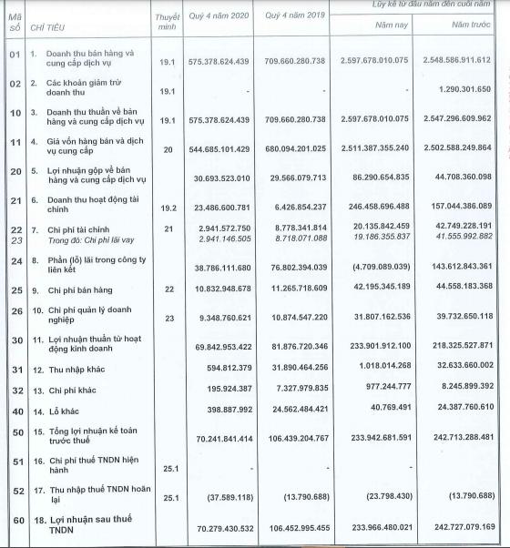 Vocarimex (VOC) báo lãi 234 tỷ đồng cả năm, hoàn thành trên 96% kế hoạch - Ảnh 1.