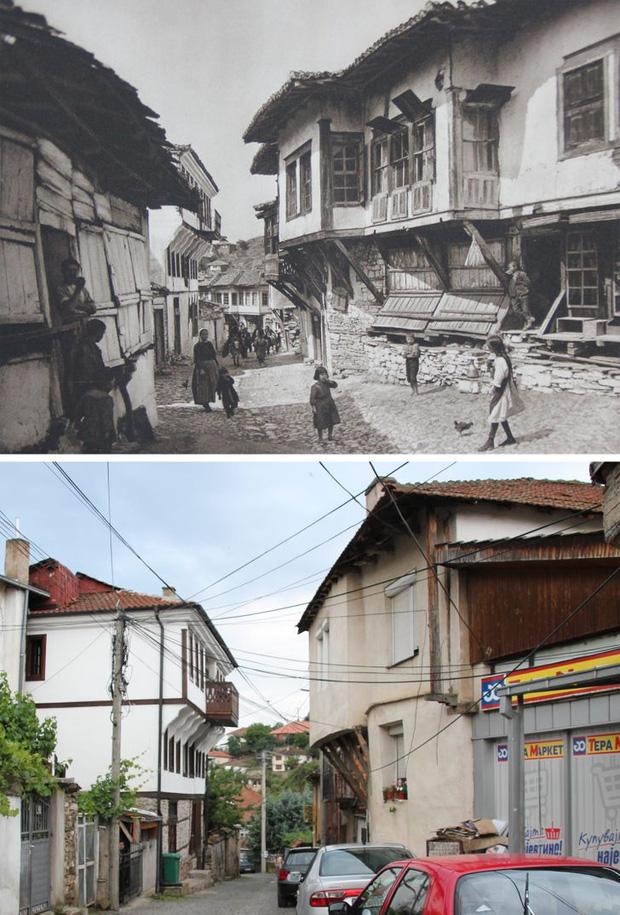 Nhiếp ảnh gia ngao du khắp châu Âu, tìm lại những địa điểm trong loạt ảnh cũ từ 100 năm trước khiến ai cũng ngỡ ngàng vì sự đổi thay kì diệu - Ảnh 2.