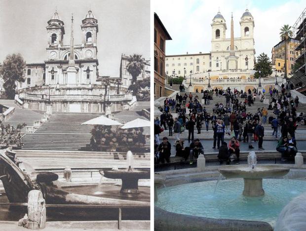 Nhiếp ảnh gia ngao du khắp châu Âu, tìm lại những địa điểm trong loạt ảnh cũ từ 100 năm trước khiến ai cũng ngỡ ngàng vì sự đổi thay kì diệu - Ảnh 3.