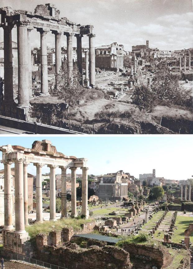 Nhiếp ảnh gia ngao du khắp châu Âu, tìm lại những địa điểm trong loạt ảnh cũ từ 100 năm trước khiến ai cũng ngỡ ngàng vì sự đổi thay kì diệu - Ảnh 6.