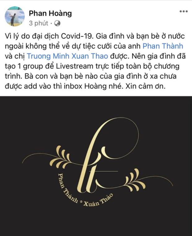 Đám cưới của thiếu gia Saigon Square sẽ được livestream cho bà con vì COVID-19 không về nước được - Ảnh 1.