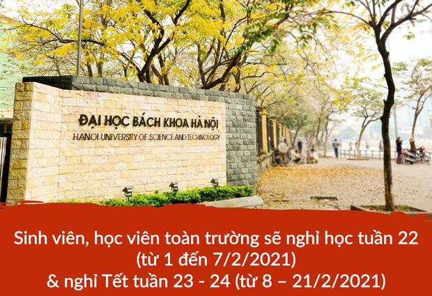 Cập nhật: Hàng loạt trường ĐH gửi thông báo khẩn cho sinh viên hoãn thi, nghỉ Tết sớm - Ảnh 2.