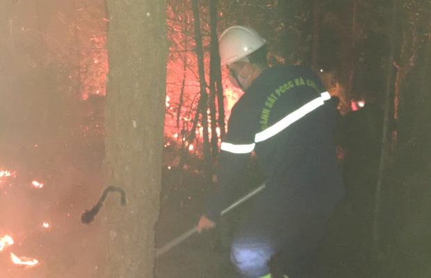 Đêm lạnh giá, cả trăm người lên dập đám cháy lớn bốc ngùn ngụt, cứu rừng thông - Ảnh 3.