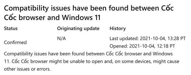 Ứng dụng Việt Cốc Cốc vẫn hoạt động ổn định trên Windows 11 sau khuyến cáo của Microsoft - Ảnh 1.