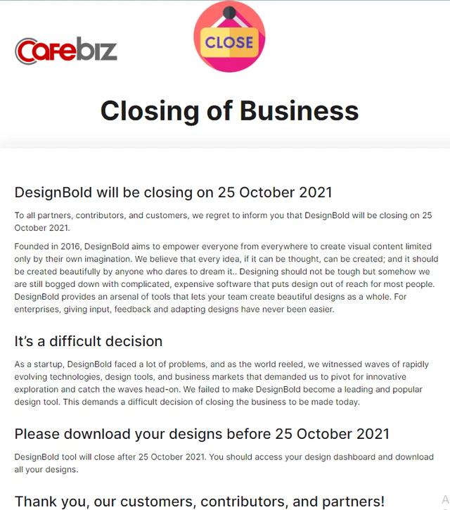 Vì sao đóng cửa vĩnh viễn và thừa nhận thất bại đối với DesignBold luôn là một quyết khó khăn với các founder như Hùng Đinh? - Ảnh 1.