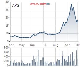 Chủ tịch HĐQT và TGĐ Chứng khoán APG đăng ký mua 3 triệu cổ phiếu APG - Ảnh 1.