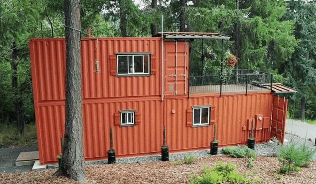 Không mua nhà ở thành phố, một cặp vợ chồng dọn lên núi, biến một chiếc container dài 6 mét thành biệt thự 2 tầng, sống một cuộc sống bình dị - Ảnh 2.