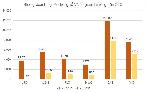 Lợi nhuận nhóm VN30 vẫn tăng trưởng dương trong năm Covid thứ nhất - Ảnh 2.