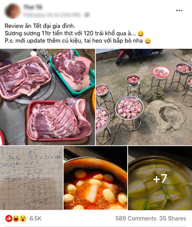 """Đã tìm ra đại gia đình có cỗ Tết """"khủng"""" nhất: 11 triệu tiền thịt, 120 trái khổ qua, 160 hột vịt nhưng chưa sốc bằng khối lượng củ kiệu - Ảnh 1."""