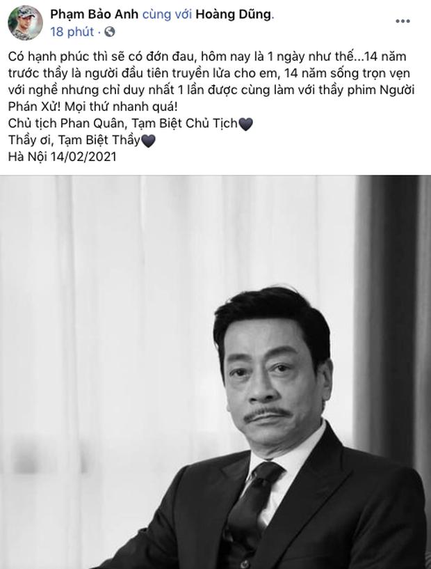 NS Hồng Vân, Quốc Trường và sao Vbiz đau buồn, tiếc thương khi hay tin NSND Hoàng Dũng qua đời - Ảnh 17.