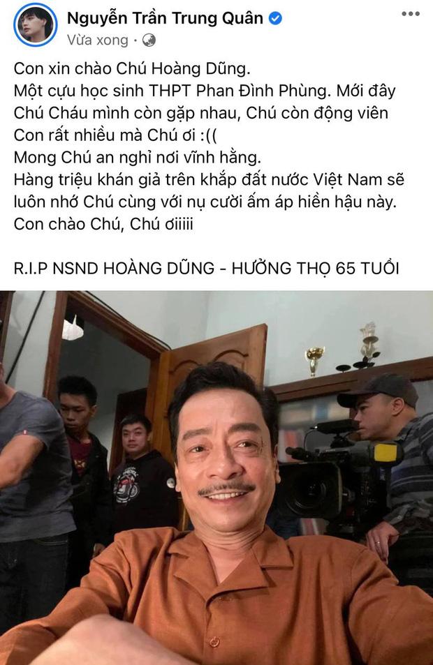 NS Hồng Vân, Quốc Trường và sao Vbiz đau buồn, tiếc thương khi hay tin NSND Hoàng Dũng qua đời - Ảnh 7.