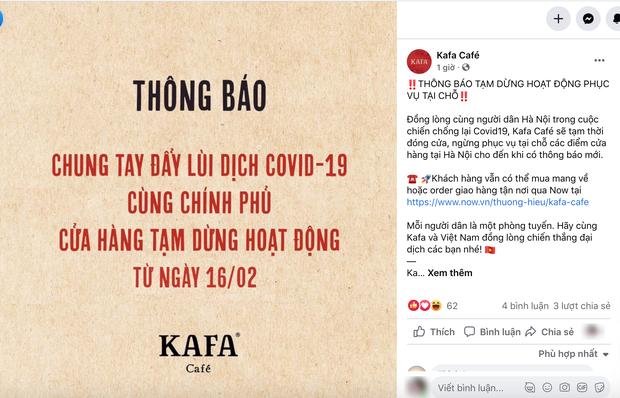 Sáng nay, hàng loạt quán cà phê ở Hà Nội đã chuyển sang bán online hoặc tạm đóng cửa để ngăn chặn dịch bệnh lây lan - Ảnh 7.