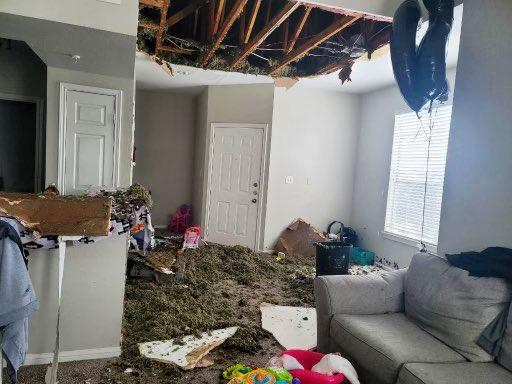 Loạt ảnh siêu thực về giá rét tại Texas: Bể cá hóa đá, tuyết rơi dày làm sập trần nhà - Ảnh 18.