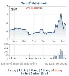 Thư ký HĐQT của SAM Holdings đăng ký bán 10 triệu cổ phiếu SAM - Ảnh 1.
