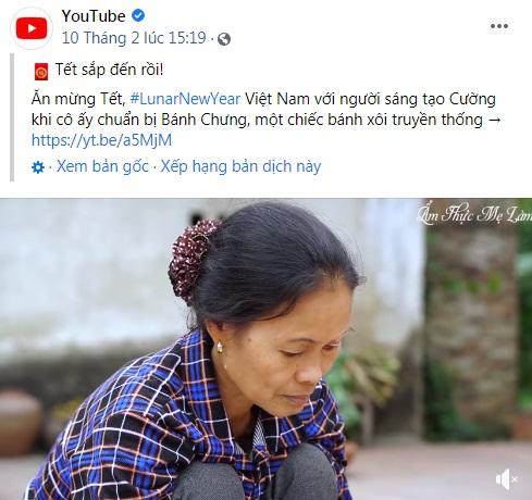 Tin vui đầu năm mới, video gói bánh chưng ngày Tết của Ẩm thực mẹ làm được Fanpage Youtube 100 triệu người theo dõi chia sẻ, giới thiệu đến toàn thế giới - Ảnh 1.