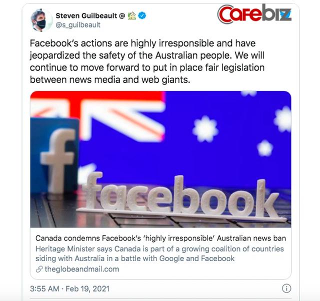 Mark Zuckerberg chọc giận cả thế giới: Thủ tướng Úc nói nhận được sự ủng hộ của nhiều nhà lãnh đạo gồm Ấn Độ, Pháp, Anh, riêng Canada tuyên bố sắp áp dụng luật tương tự lên Facebook  - Ảnh 2.