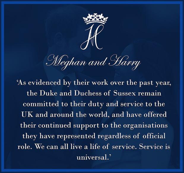 Sau khi bị Nữ hoàng Anh tước bỏ mọi thứ, nhà Meghan Markle đưa ra thông báo phản hồi có nội dung gây tranh cãi - Ảnh 2.