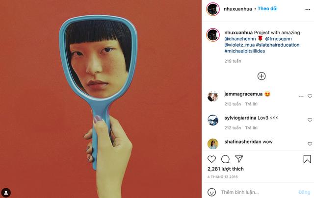 Gucci bị nghệ sĩ gốc Việt tố ăn cắp ý tưởng: Đạo nhái hình gốc từ năm 2016, giống từ cách chụp cận mặt người mẫu qua chiếc gương tay, đến bố cục, phông nền - Ảnh 5.