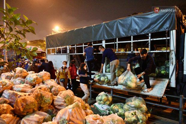 Hà Nội: Hàng chục tấn rau củ quả từ Hải Dương về điểm giải cứu, người dân chờ đợi và mua ngay trong đêm - Ảnh 15.
