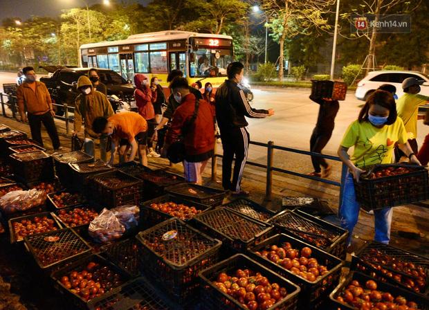 Hà Nội: Hàng chục tấn rau củ quả từ Hải Dương về điểm giải cứu, người dân chờ đợi và mua ngay trong đêm - Ảnh 10.