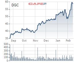 Hoá Chất Đức Giang (DGC): Cổ phiếu tăng mạnh, Chủ tịch vừa tăng sở hữu lên 21,43% vốn - Ảnh 1.