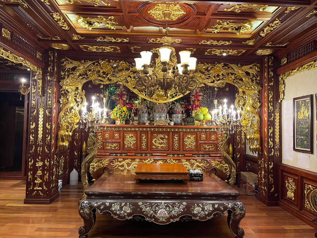 Biệt thự 7 tầng của đại gia ngành sắt Việt giàu lên từ thu mua sắt vụn: Độ hoành tráng sánh ngang lâu đài, tổng giá trị cỡ 300 tỷ  - Ảnh 19.