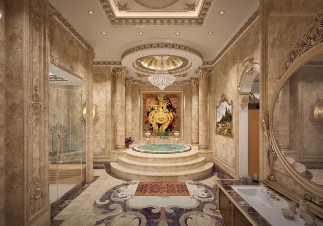 Lạc lối trong cung điện của đại gia Thành Thắng Group: Cao bằng toà nhà 18 tầng, diện tích sàn 15.000m2, 20 phòng ngủ, dát vàng khắp nơi  - Ảnh 11.
