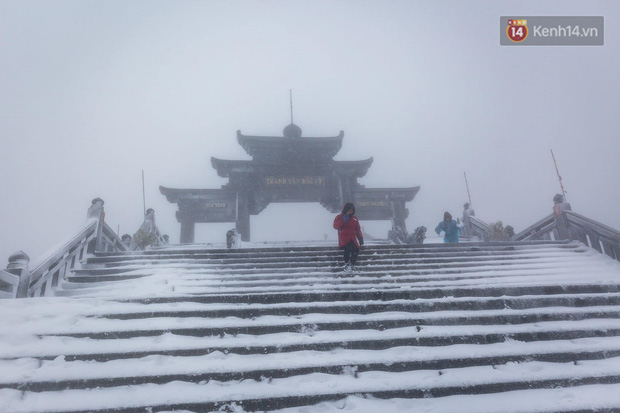 Ảnh: 28 Tết, tuyết phủ dày 60cm trên đỉnh Fansipan, đẹp như phim cổ trang - Ảnh 17.
