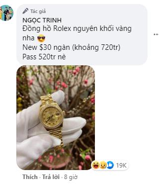 Ngọc Trinh đăng bán toàn hàng hiệu thu hút tương tác khủng trên mạng xã hội: Từ kim cương tới đồng hồ Rolex vàng nguyên khối, túi xách Hermes Birkin đều thanh lý với giá hời - Ảnh 2.
