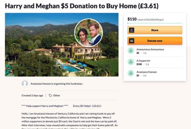 Chuyện thật như đùa: Dân Mỹ quyên góp giúp vợ chồng Meghan mua nhà sau màn than khổ bị cắt tài chính, Harry có thực sự nghèo đến như vậy? - Ảnh 1.