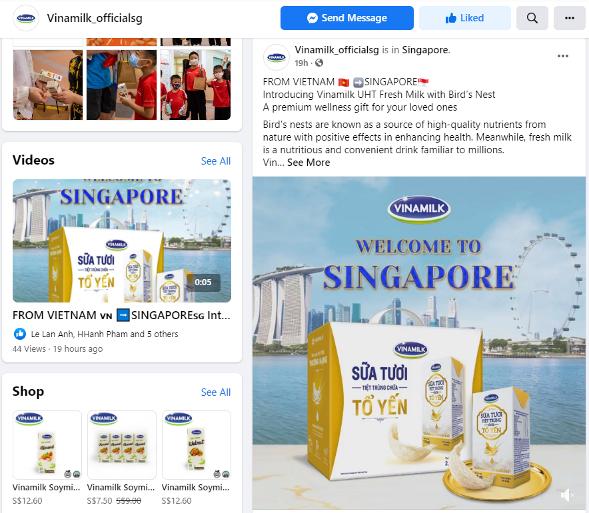 Xuất khẩu sữa tươi tổ yến đi Singapore, Vinamilk gia tăng sức cạnh tranh trong phân khúc cao cấp - Ảnh 2.