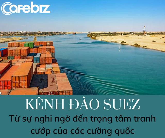 Những con số không tưởng về kênh đào Suez: Đường tắt đi từ châu Á sang châu Âu, chiếm 13% tổng giao thương hàng hải toàn thế giới, 120.000 người bỏ mạng để xây dựng - Ảnh 1.
