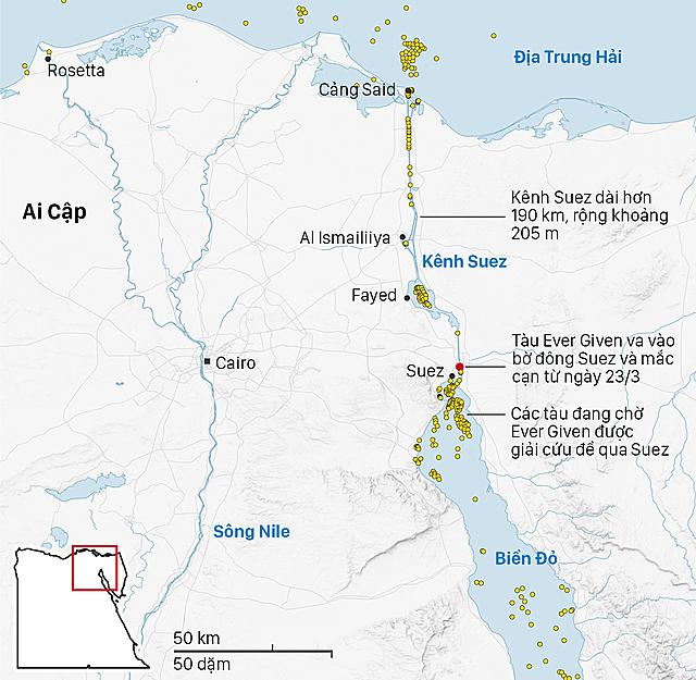 Cần bao lâu để dỡ hết container trên 'siêu tàu' đang mắc cạn ở Suez? - Ảnh 2.