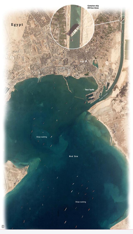 Khi máy xúc và tàu kéo vô dụng, các chuyên gia đang chờ Thiên Nhiên ra tay giải cứu tàu Ever Given mắc cạn tại kênh đào Suez  - Ảnh 2.
