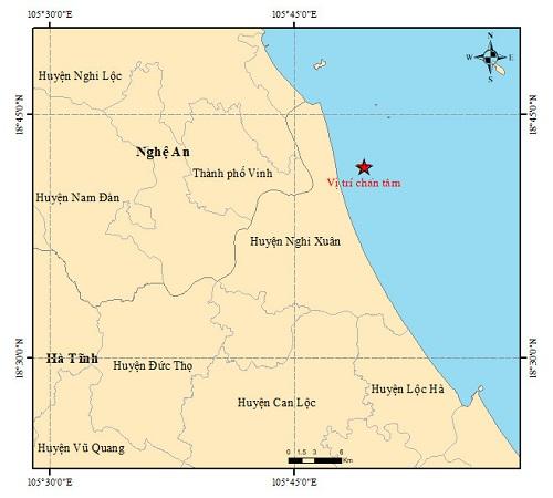 Vừa xảy ra động đất ở Hà Tĩnh, các đồ vật rung lắc nhẹ - Ảnh 1.