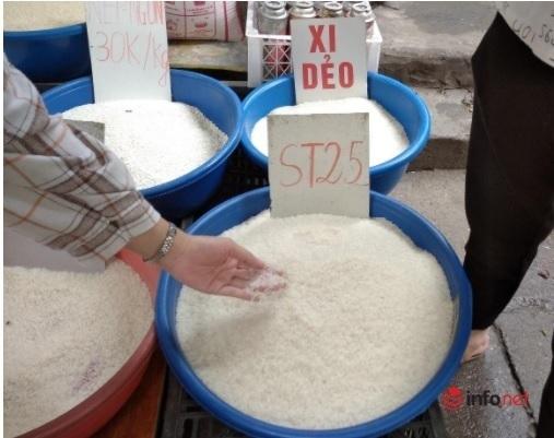 Thị trường vô vàn loại gạo ST25, khó biết thật giả - Ảnh 1.