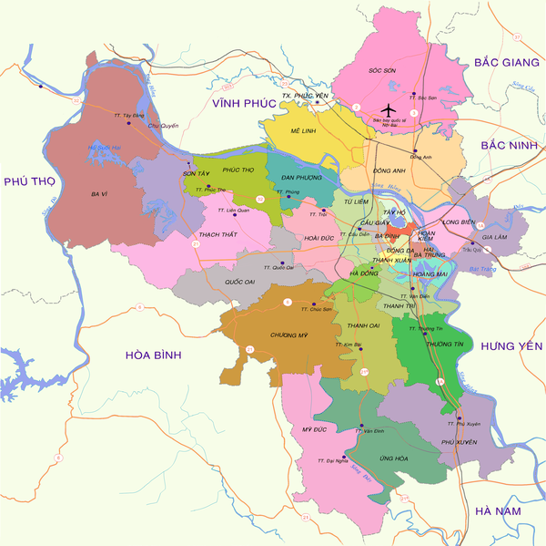 Hà Nội sẽ có thêm 5 quận mới đến năm 2025 - Ảnh 1.