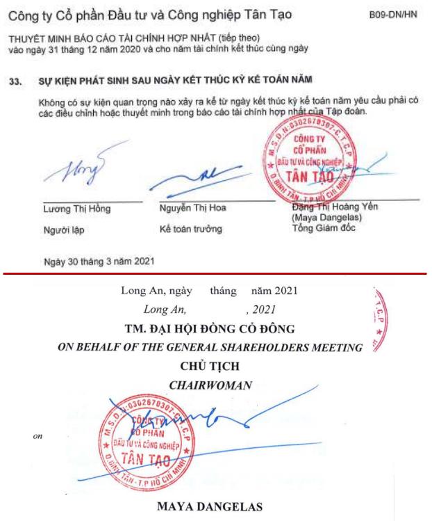 ĐHĐCĐ Tân Tạo (ITA): Bà Đặng Thị Hoàng Yến đổi hoàn toàn sang tên mới Maya Dangales, hứa hẹn liên doanh tại Mỹ sẽ chắp cánh cho Công ty - Ảnh 1.