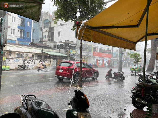 ẢNH: Mưa lớn bất ngờ vào giữa trưa, người Sài Gòn được giải nhiệt sau những ngày nắng nóng oi bức - Ảnh 9.