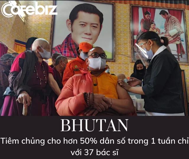 Quốc gia hạnh phúc Bhutan khiến thế giới kinh ngạc: Tiêm chủng cho hơn 50% dân số trong 1 tuần chỉ với 37 bác sĩ - Ảnh 2.