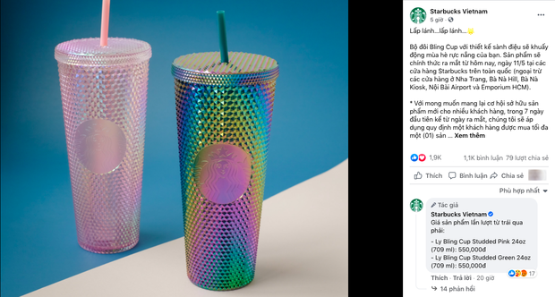HOT: 7h sáng đăng thông báo bán cốc mới, Starbucks khiến dân tình nháo nhào chạy ra săn cho bằng được, giá bán lại bị hét gấp đôi? - Ảnh 1.