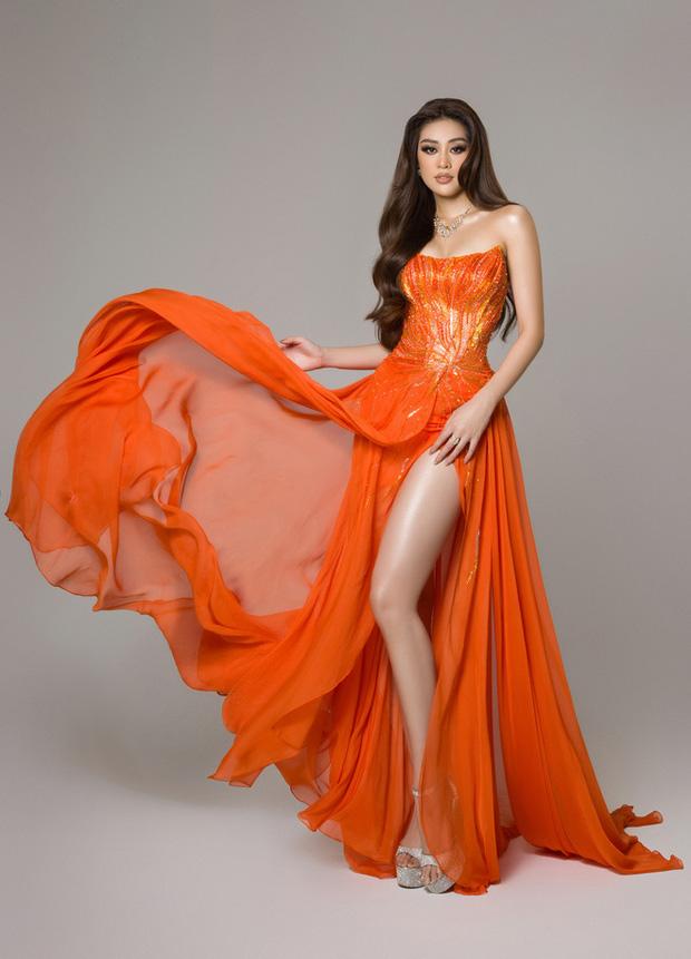 Cận cảnh trang phục dạ hội Khánh Vân diện tại Bán kết Miss Universe: Tinh xảo tôn trọn sắc vóc, bất ngờ ý nghĩa sâu sắc đằng sau - Ảnh 4.