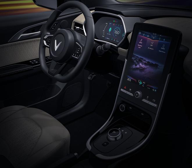 VinFast tung ảnh cận cảnh nội thất xe điện VF e34