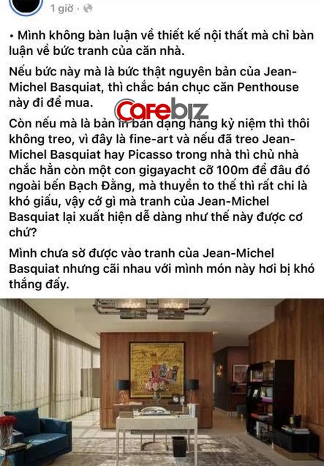 Bức tranh treo trong căn penthouse do Thái Công thiết kế bị đặt nghi vấn: Liệu có đúng là tranh thật nguyên bản hay chỉ là bản in thương mại? - Ảnh 3.