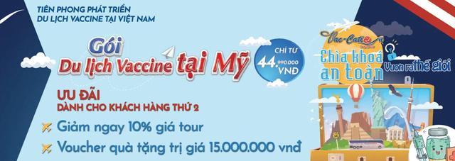 Công ty du lịch Việt tung tour đi Mỹ tiêm vaccine Covid-19: Giá từ 45 triệu đồng chưa bao gồm vé máy bay và chi phí phát sinh với chiều về - Ảnh 1.