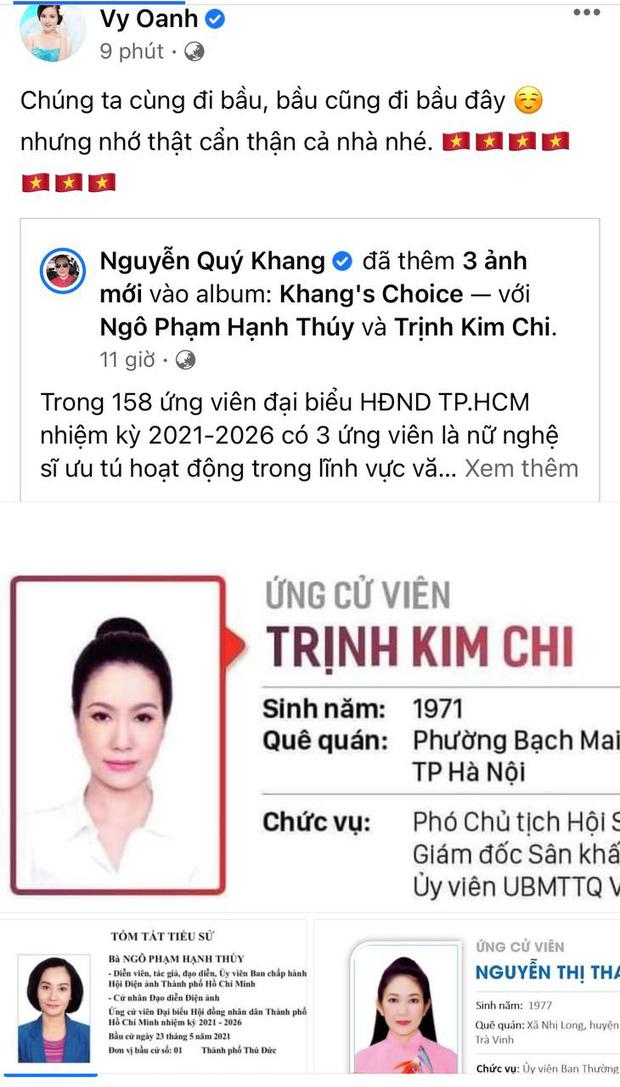 Sao Việt nô nức đi bầu cử: Tiểu Vy, Huyền My dậy sớm cùng dàn hậu bỏ phiếu, Khánh Vân từ Mỹ cũng hào hứng hưởng ứng - Ảnh 13.
