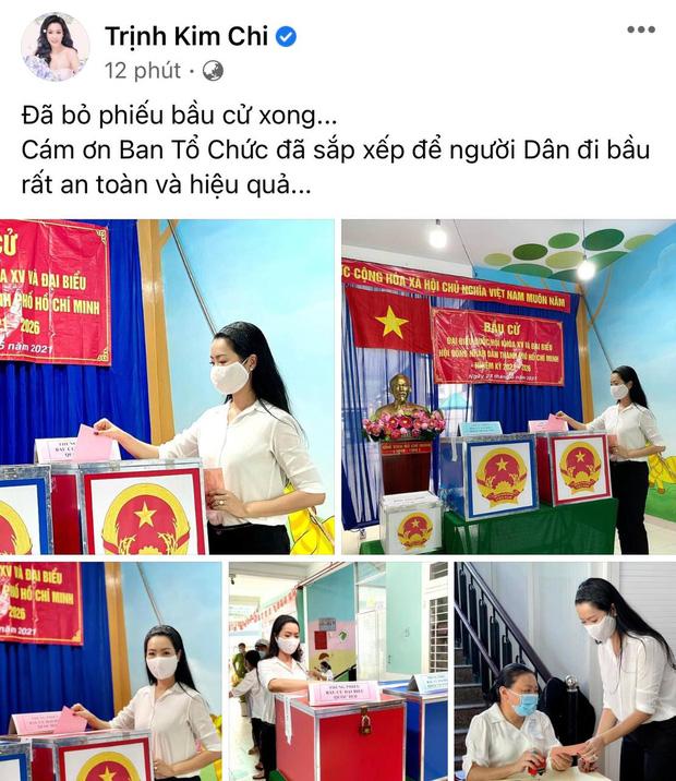 Sao Việt nô nức đi bầu cử: Tiểu Vy, Huyền My dậy sớm cùng dàn hậu bỏ phiếu, Khánh Vân từ Mỹ cũng hào hứng hưởng ứng - Ảnh 14.