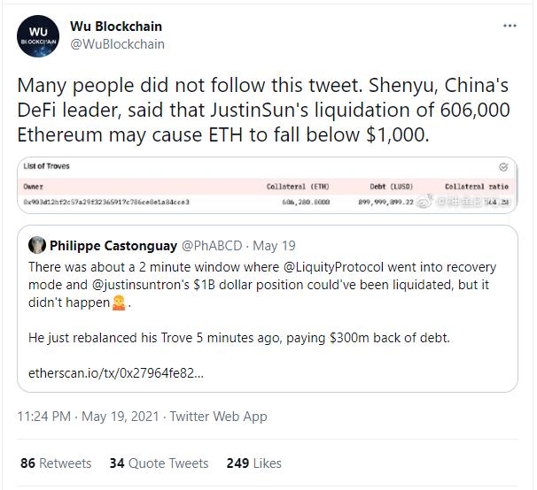 Vì ông trùm này, giá của Ethereum suýt nữa đã rơi xuống dưới 1.500 USD - Ảnh 1.