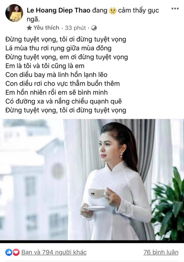 Được chia hơn 3.245 tỷ đồng hậu ly hôn, bà Lê Hoàng Diệp Thảo tiếp tục khẳng định: Chắc chắn mình sẽ không bỏ cuộc, vì chính nghĩa và niềm tin... - Ảnh 2.